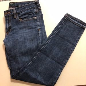 J. Crew Stretch Toothpick Ankle Jeans Size 28